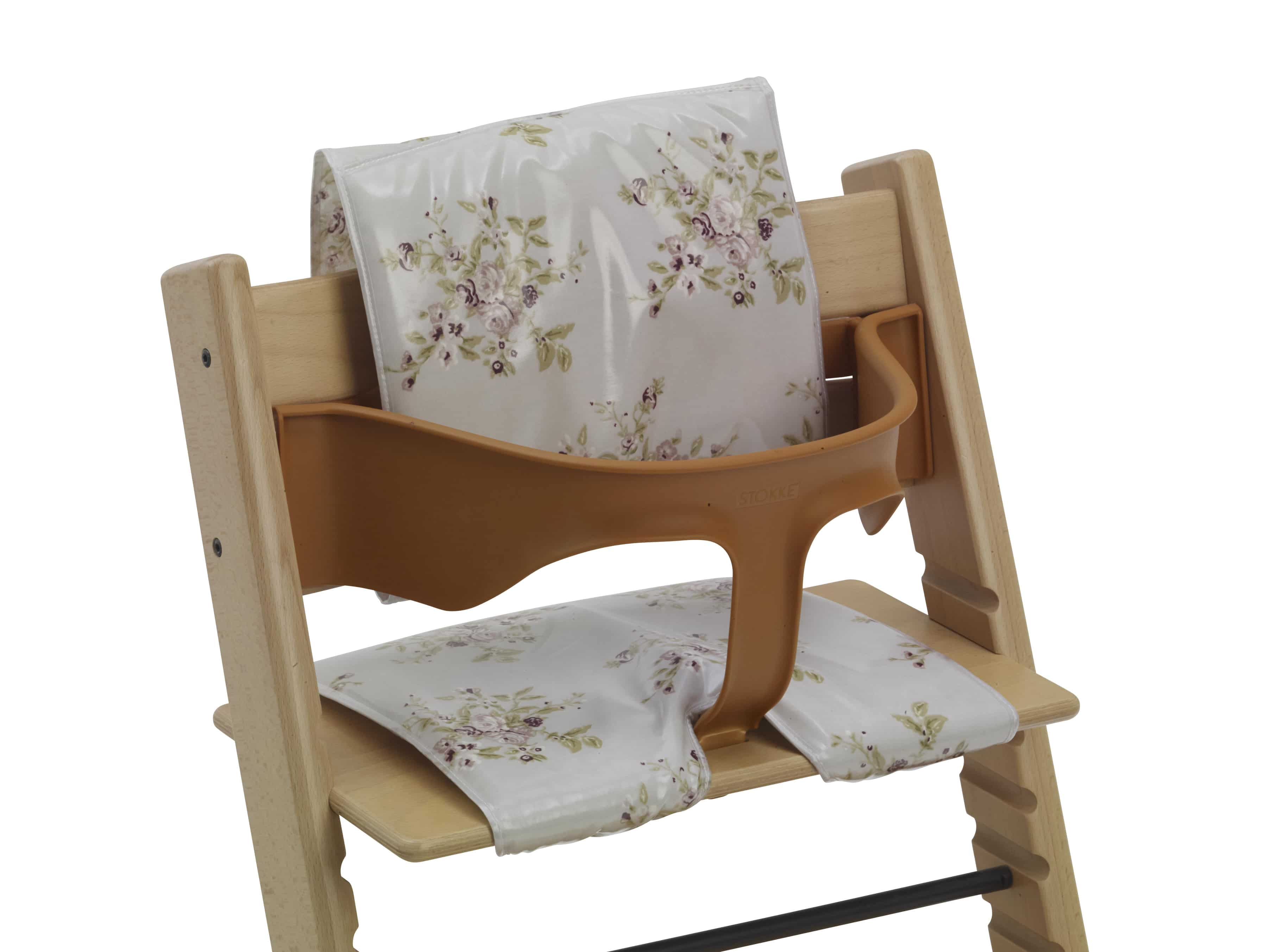 cushions for wooden high chairs vintage floral messy me